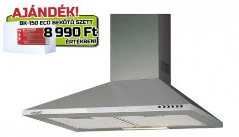 Cata V-600 X/L inox fali páraelszívó