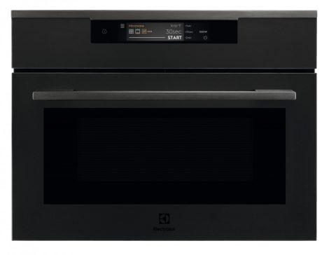 Electrolux KVLAE00WT Fekete beépíthető mikrohullámú kompakt sütő, WIFI, TFT érintőkijelző, Assisted Cooking